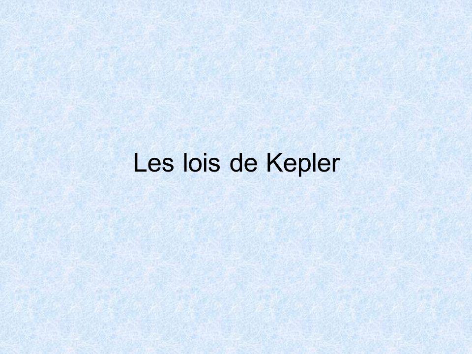 Première loi de Kepler : Loi des orbites Soleil Planète PA Dans le référentiel héliocentrique, la trajectoire du centre dune planète est une ellipse dont lun des foyers est le centre du Soleil Vocabulaire : P : périhélie = point le plus proche du Soleil.