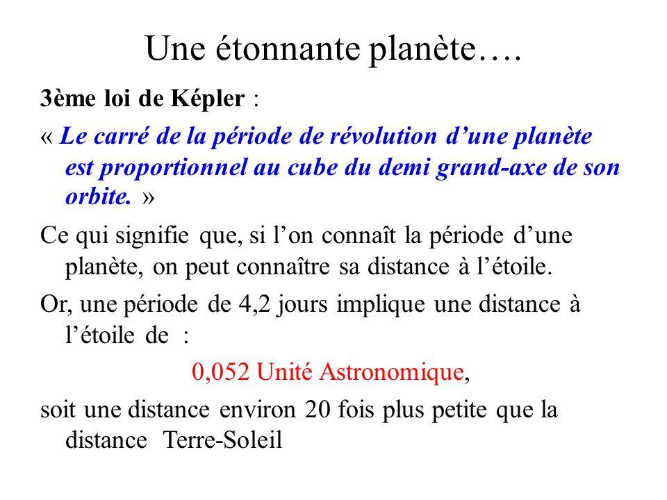 Une étonnante planète…. 3ème loi de Képler : « Le carré de la période de révolution dune planète est proportionnel au cube du demi grand-axe de son or