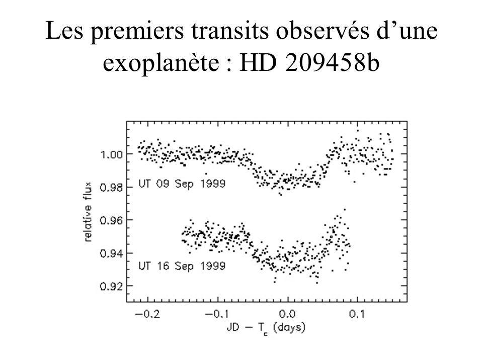 Les premiers transits observés dune exoplanète : HD 209458b