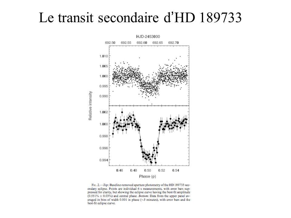 Le transit secondaire d HD 189733