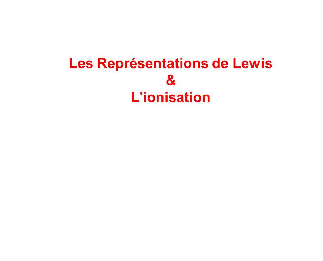 Les Représentations de Lewis & L'ionisation