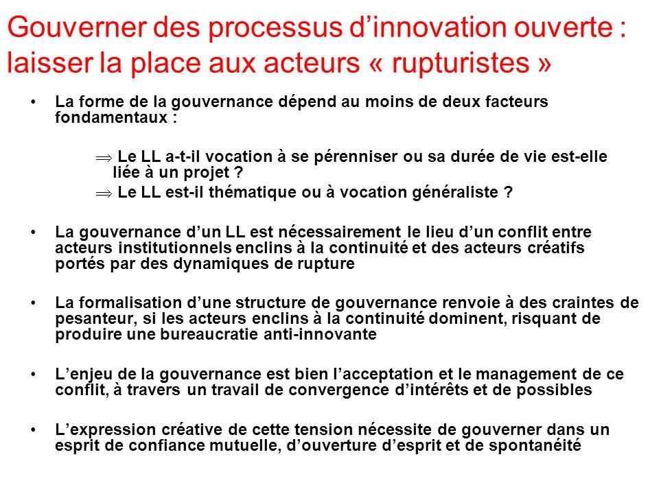 La place des usagers dans la gouvernance dun LL : quels enjeux .