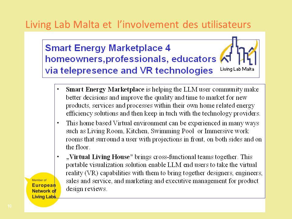 10 Living Lab Malta et linvolvement des utilisateurs
