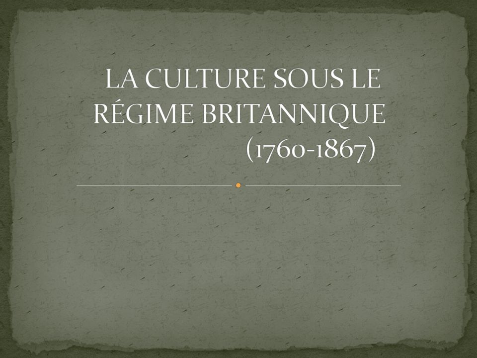 Suite à la conquête de la Nouvelle-France, le roi dAngleterre organise sa nouvelle colonie en y instituant une nouvelle constitution la Proclamation royale en 1763.