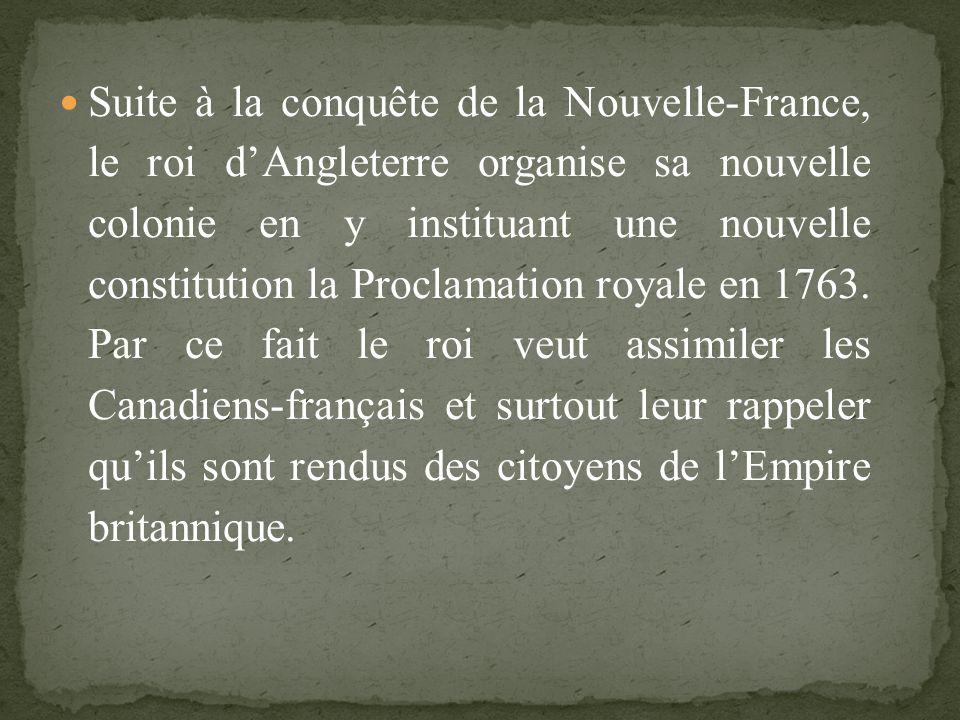 Avec la Conquête de la Nouvelle-France par les britanniques, la population connaît de profonds changements.