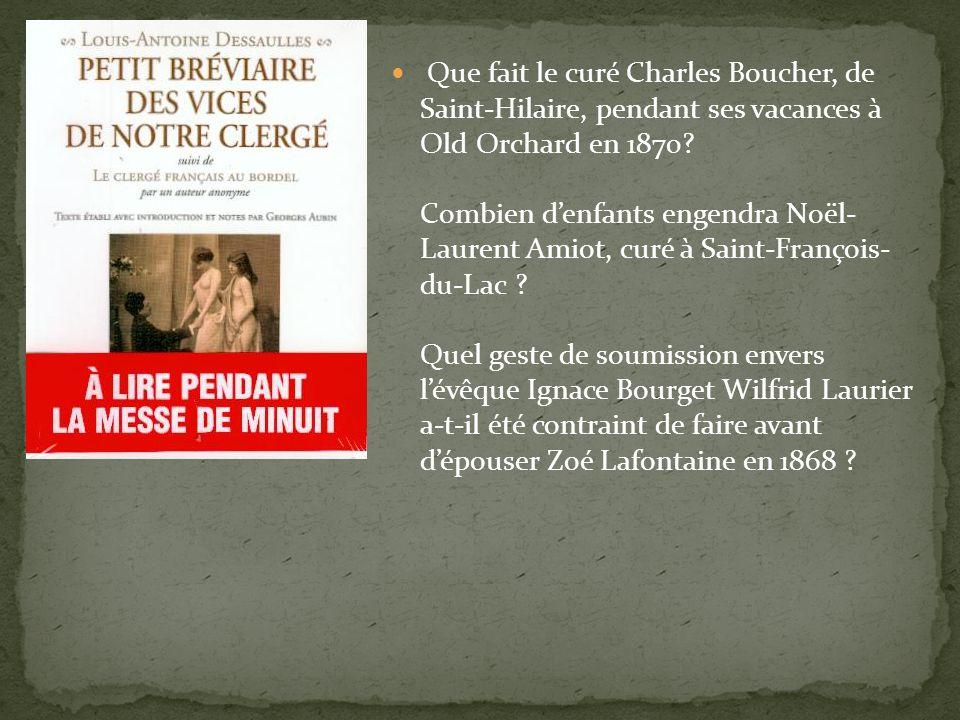 Que fait le curé Charles Boucher, de Saint-Hilaire, pendant ses vacances à Old Orchard en 1870.