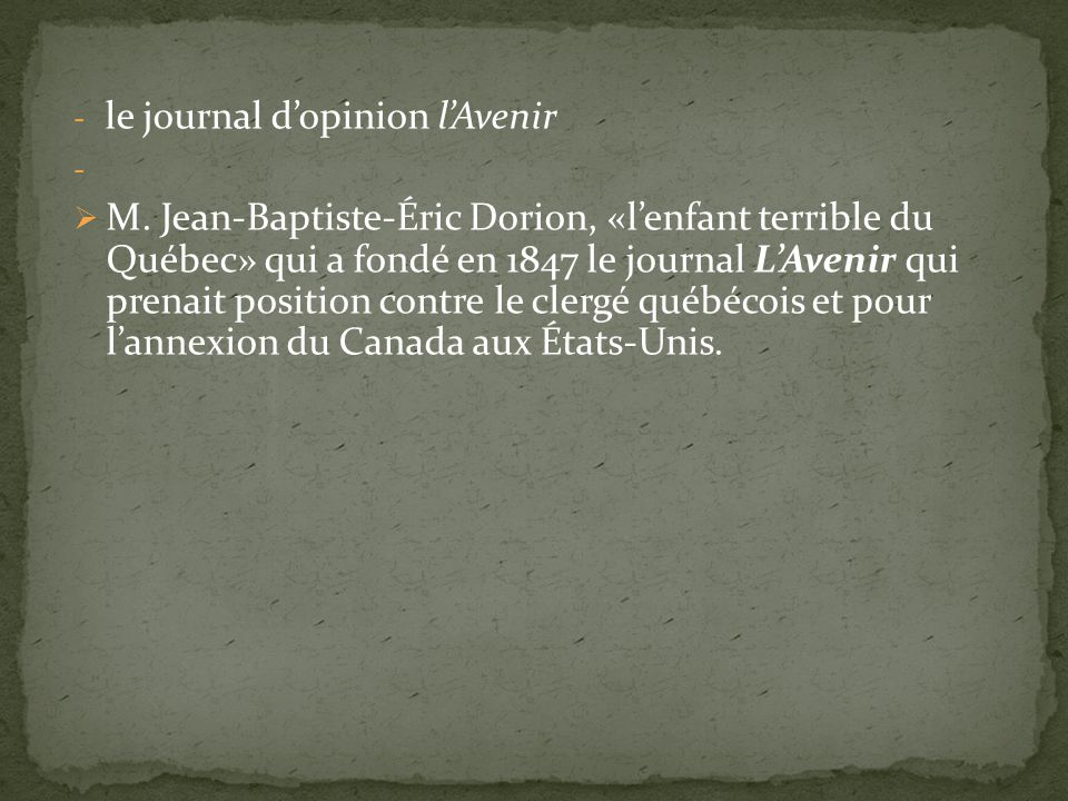 - le journal dopinion lAvenir - M.