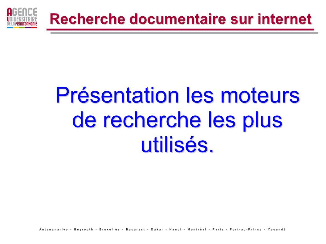 1.La recherche simple de site Web.