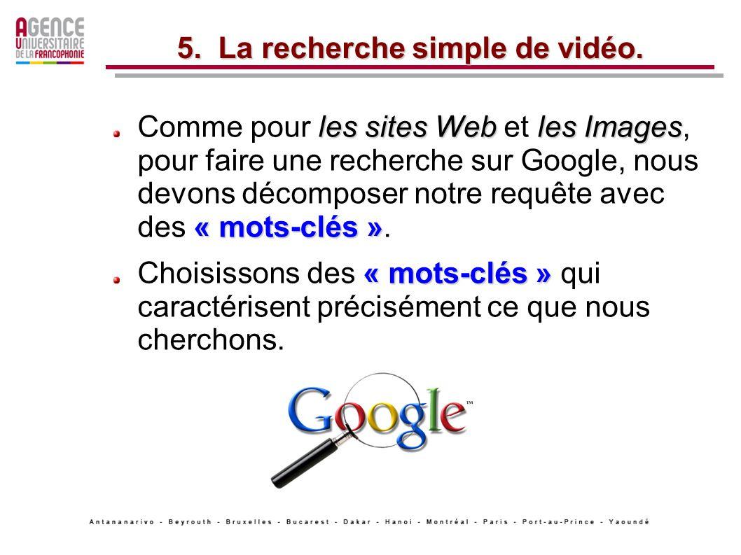 les sites Webles Images « mots-clés » Comme pour les sites Web et les Images, pour faire une recherche sur Google, nous devons décomposer notre requête avec des « mots-clés ».