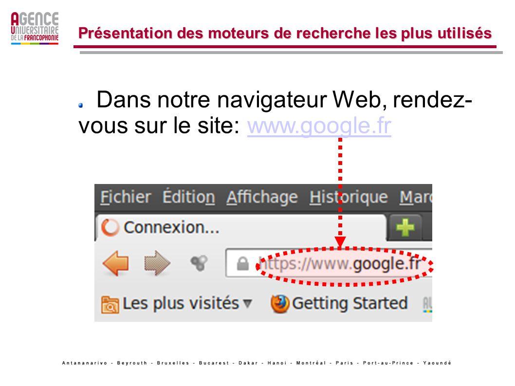Voici le résultat de votre recherche... 2. La recherche avancée de site Web.