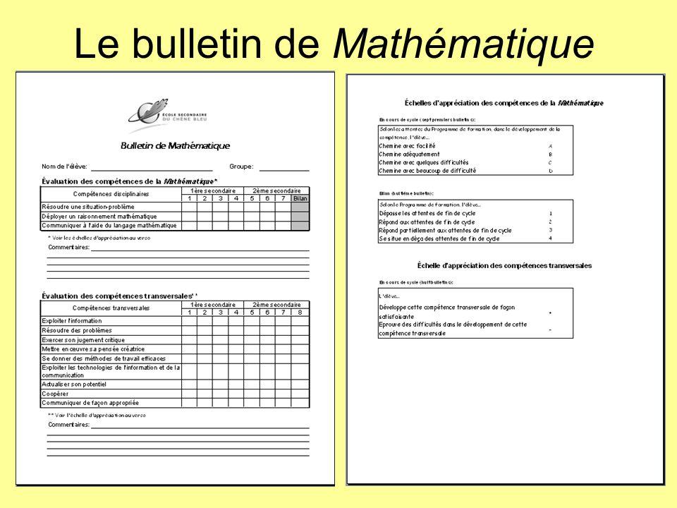 Le bulletin de Mathématique