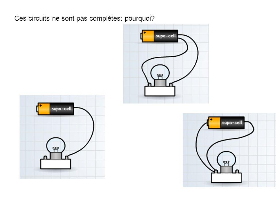 Ces circuits ne sont pas complètes: pourquoi?