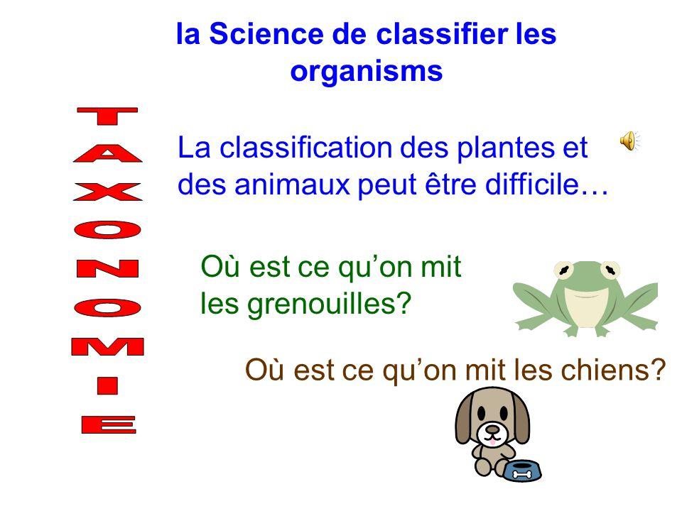La méthode de grouper les choses basées sur leurs similarités et leurs différences (Ex.: couleur, lâge, la grandeur) Pourquoi classifié? facile vite o