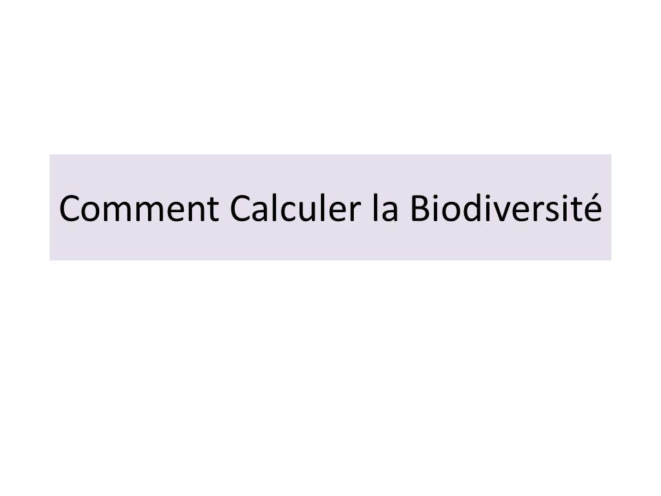 Comment Calculer la Biodiversité