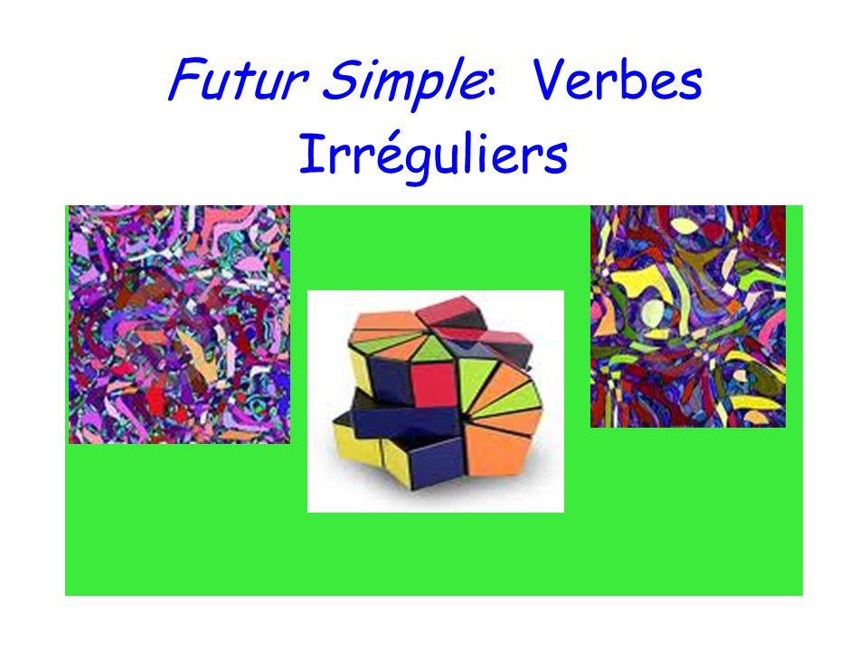 How do you conjugate irregular verbs in the futur simple.