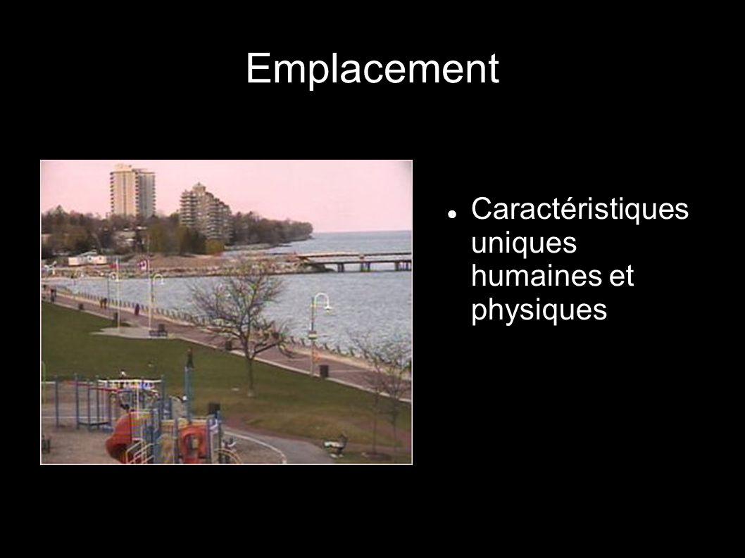 Emplacement Caractéristiques uniques humaines et physiques