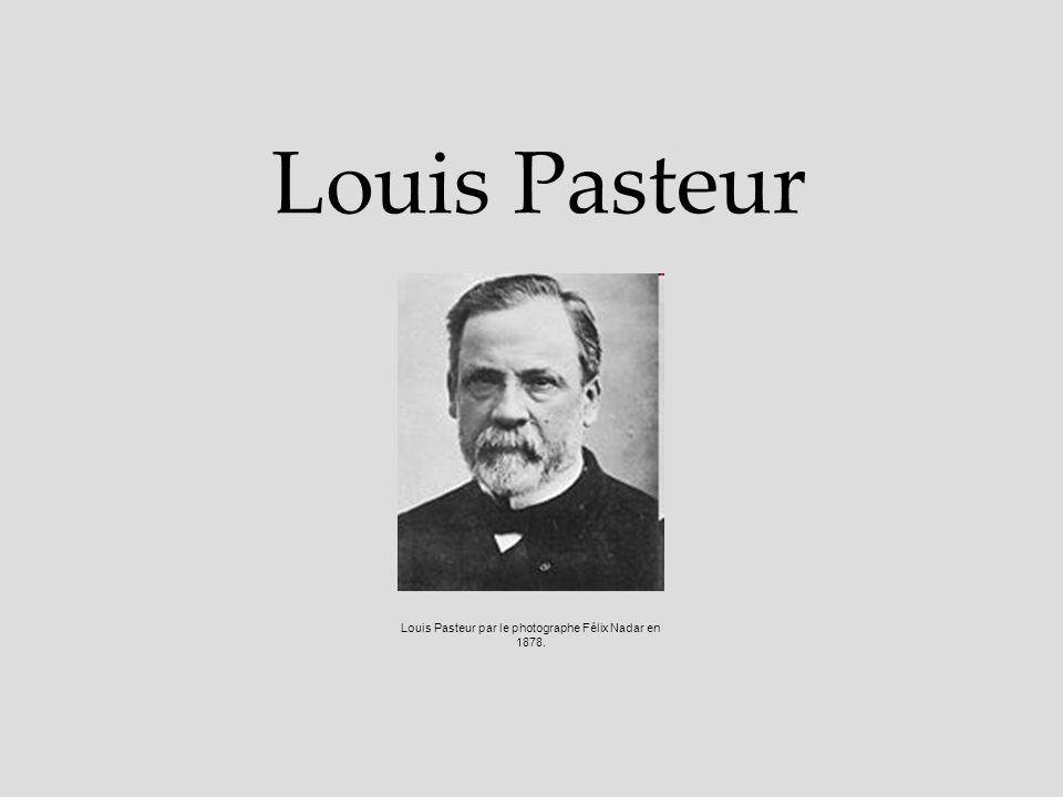 Louis Pasteur Louis Pasteur par le photographe Félix Nadar en 1878.