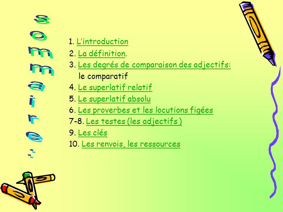 1.LintroductionLintroduction 2. La définition.La définition 3.
