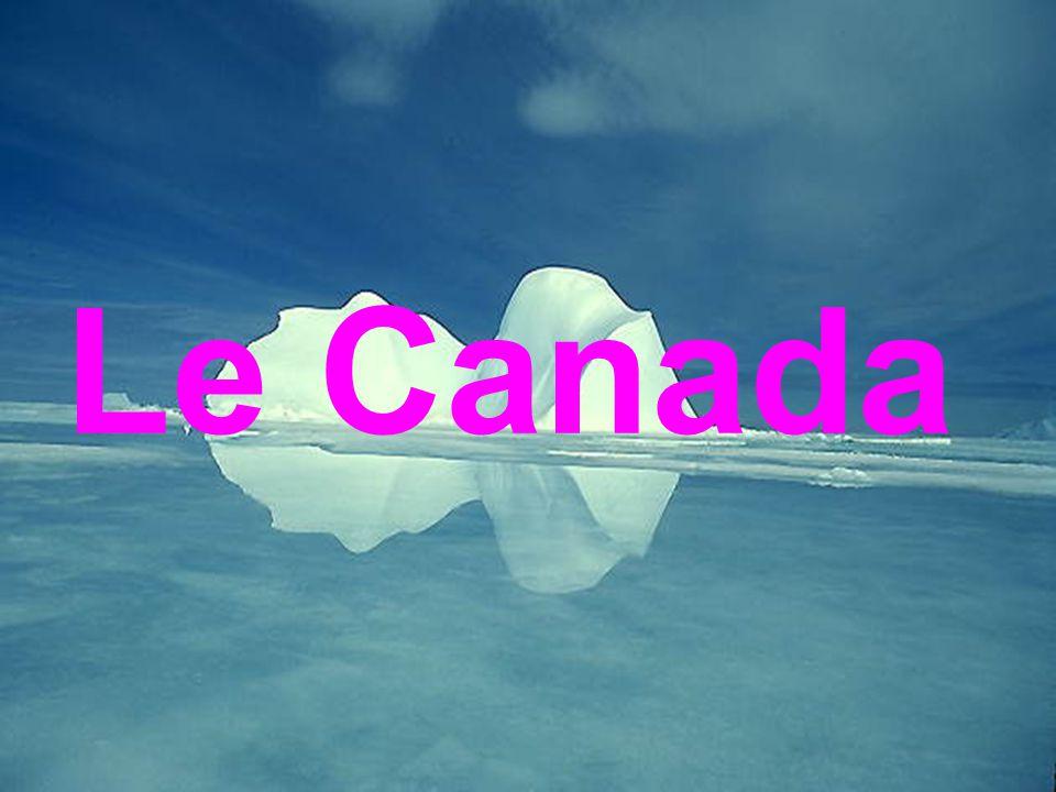 Le drapeau La carte Le territoire de Canada = 9,9 millions kilométres carrés.