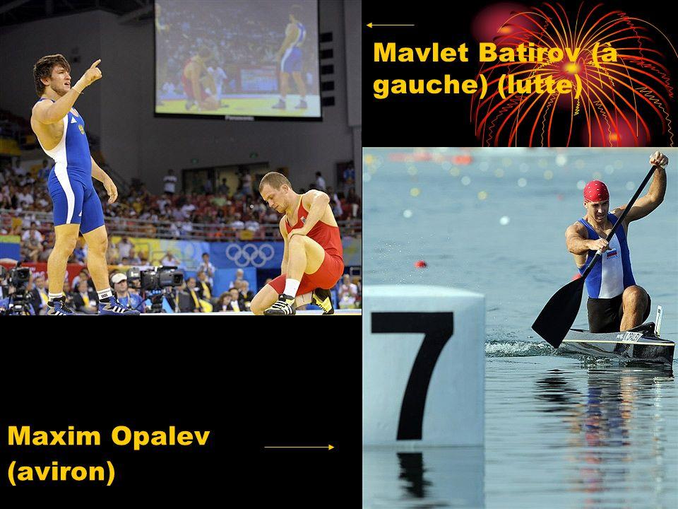 Mavlet Batirov (à gauche) (lutte) Maxim Opalev (aviron)