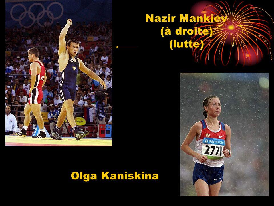 Nazir Mankiev (à droite) (lutte) Olga Kaniskina