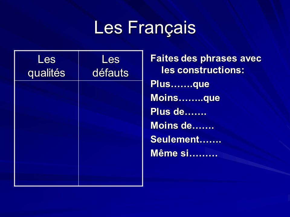 Test Plus de Britanniques trouvent les Français sympathiques que l, inverse.