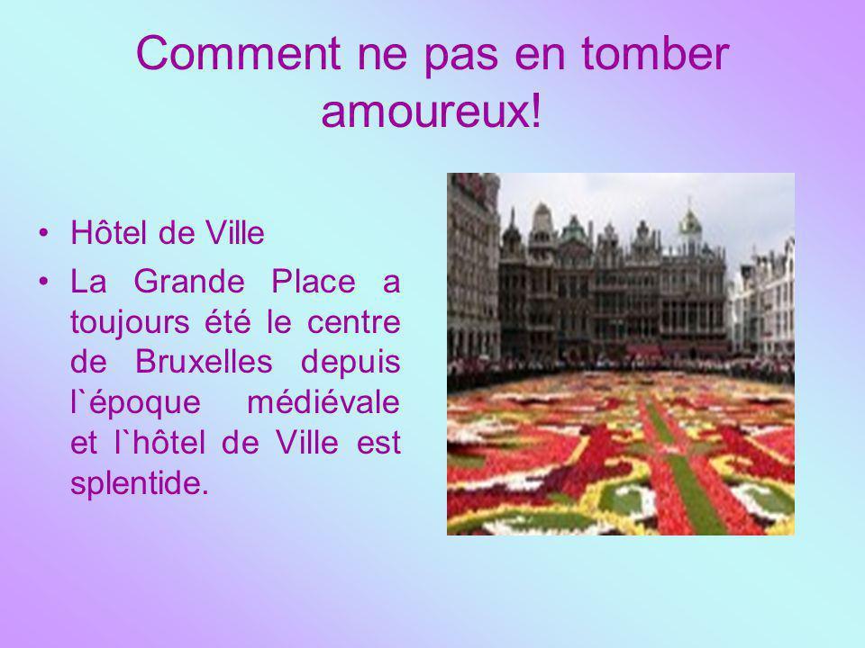 Comment ne pas en tomber amoureux! Hôtel de Ville La Grande Place a toujours été le centre de Bruxelles depuis l`époque médiévale et l`hôtel de Ville