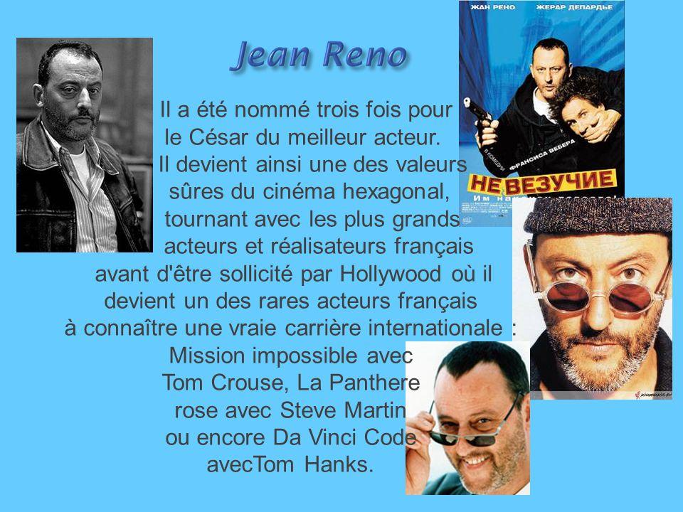 Il a été nommé trois fois pour le César du meilleur acteur.
