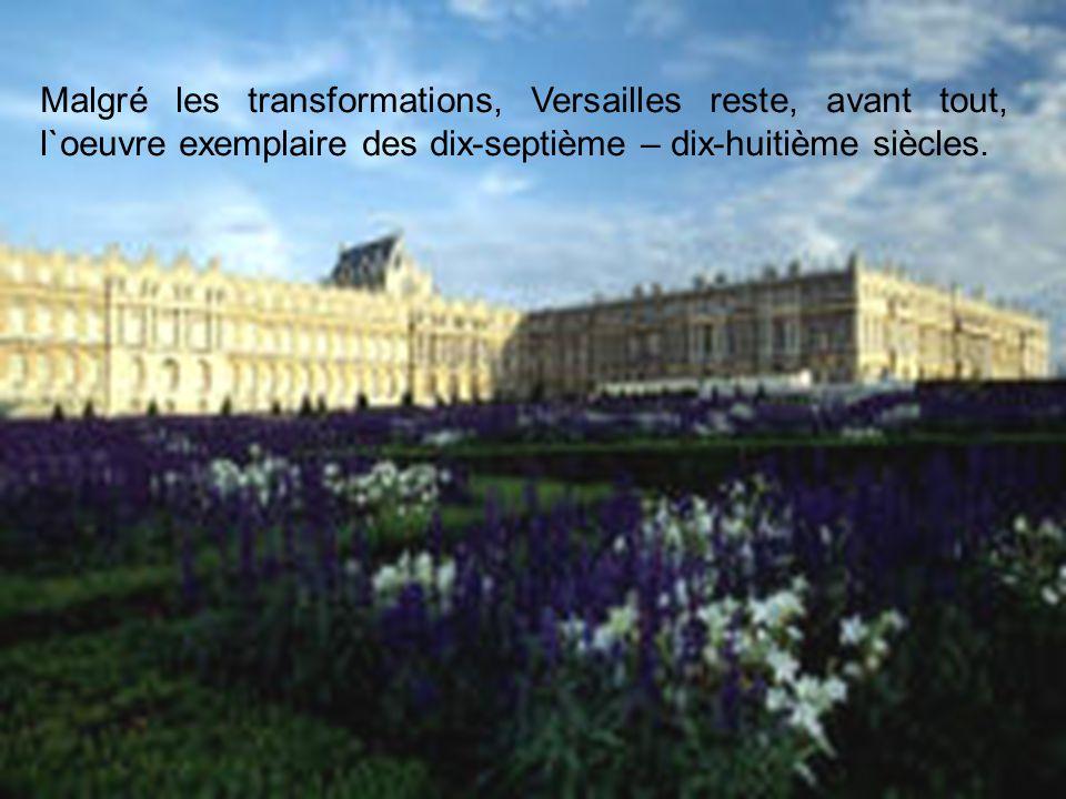 C`est aussi à Versailles que depuis bientôt un siècle, les présidents de la République Francaise sollenellement élus.