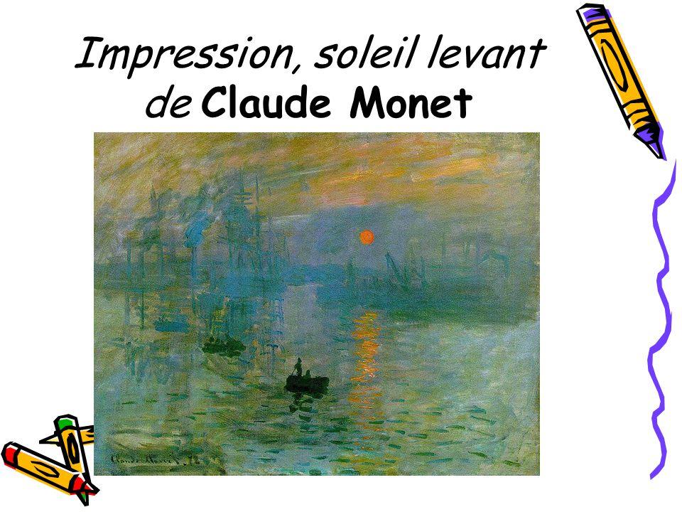 Impression, soleil levant de Claude Monet