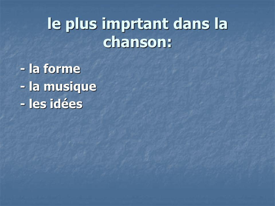Bienvenu au monde de la chanson française Bienvenu au monde de la chanson française contemporaine !