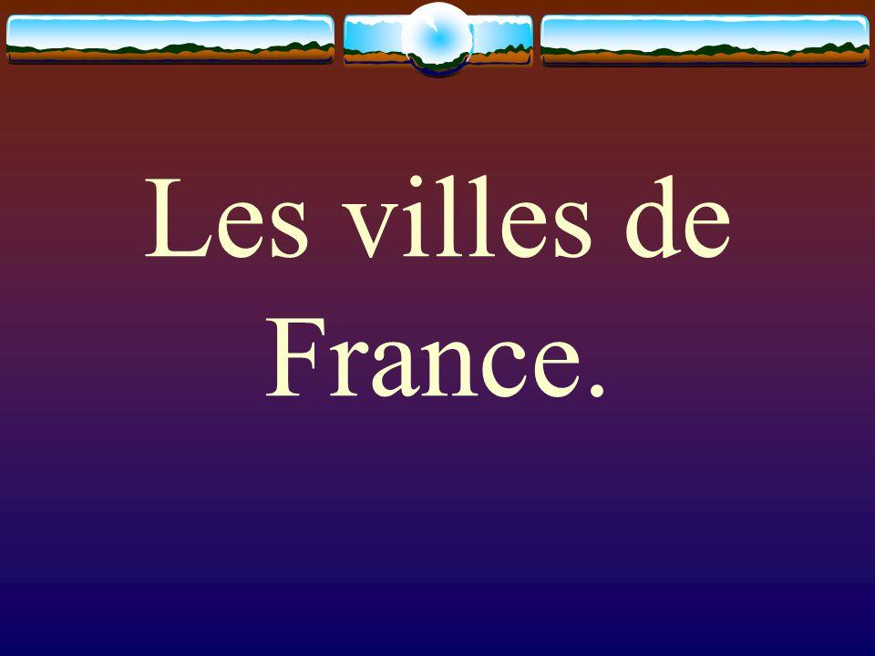 Les villes de France.