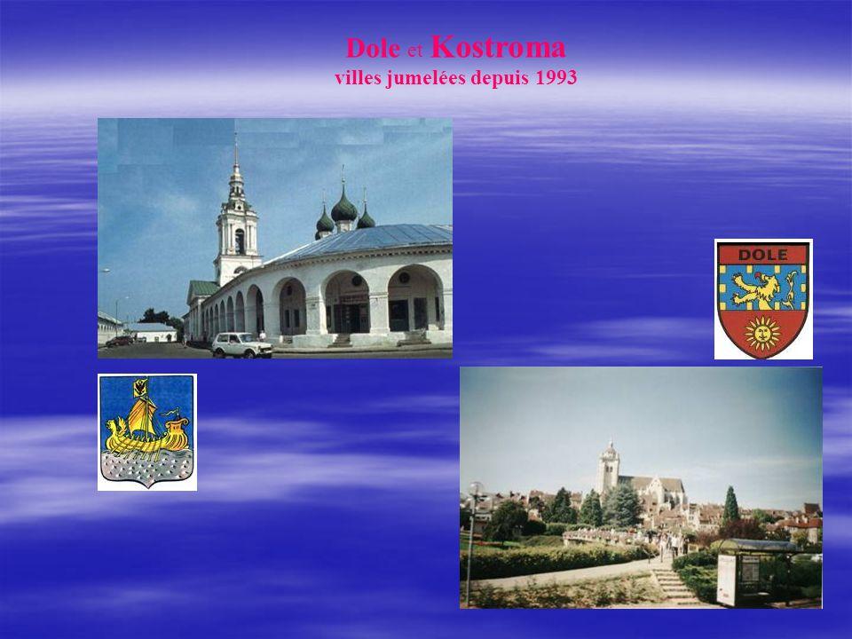 Dole et Kostroma villes jumelées depuis 1993