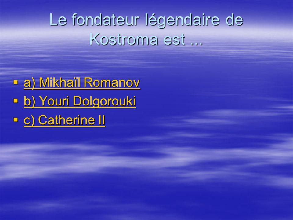 Le fondateur légendaire de Kostroma est...