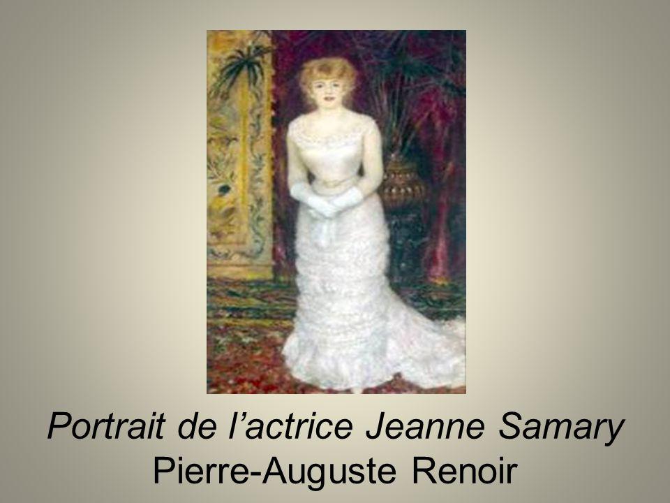 Portrait de lactrice Jeanne Samary Pierre-Auguste Renoir