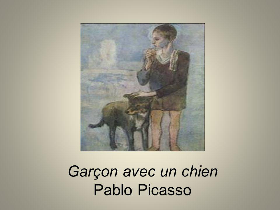 Garçon avec un chien Pablo Picasso