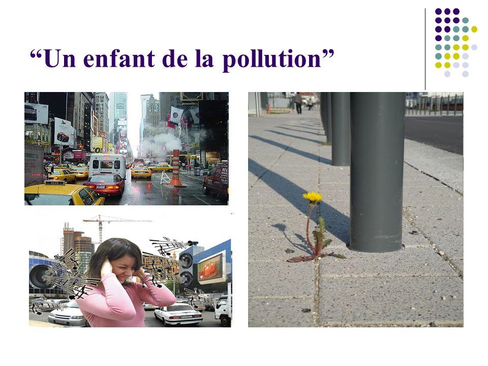 Un enfant de la pollution