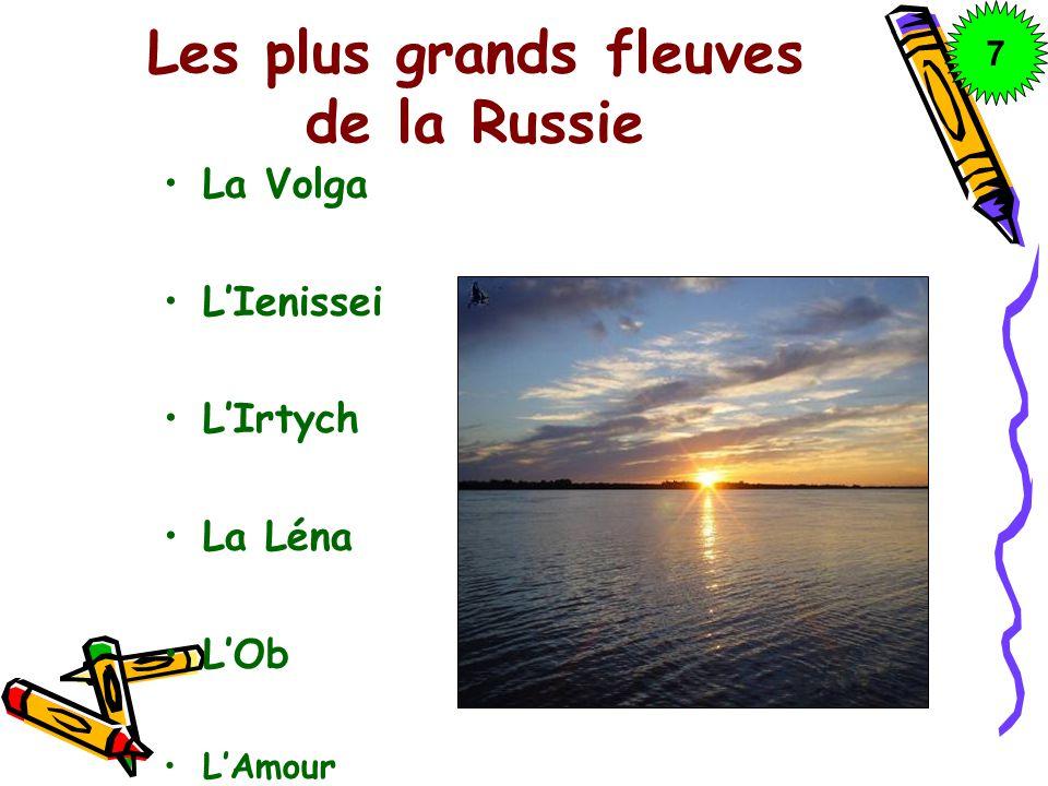 Les plus grands fleuves de la Russie La Volga LIenissei LIrtych La Léna LOb LAmour 7