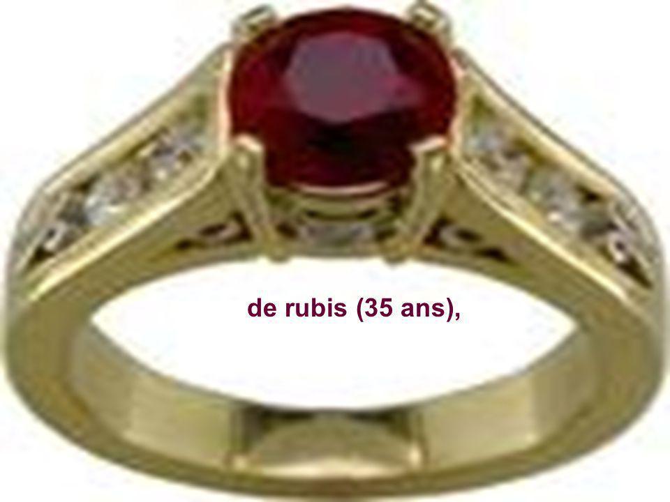 de rubis (35 ans),