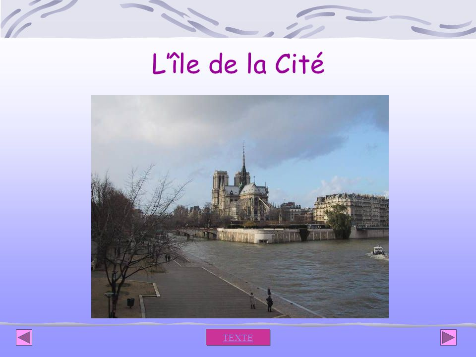 Lîle de la Cité TEXTE