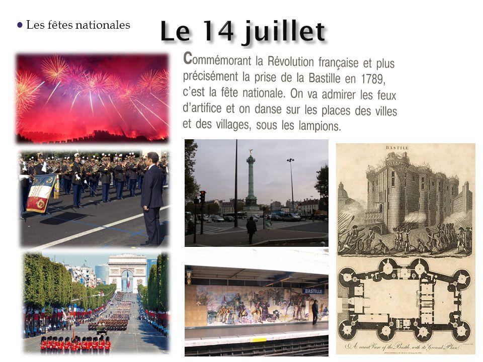 Les fêtes nationales
