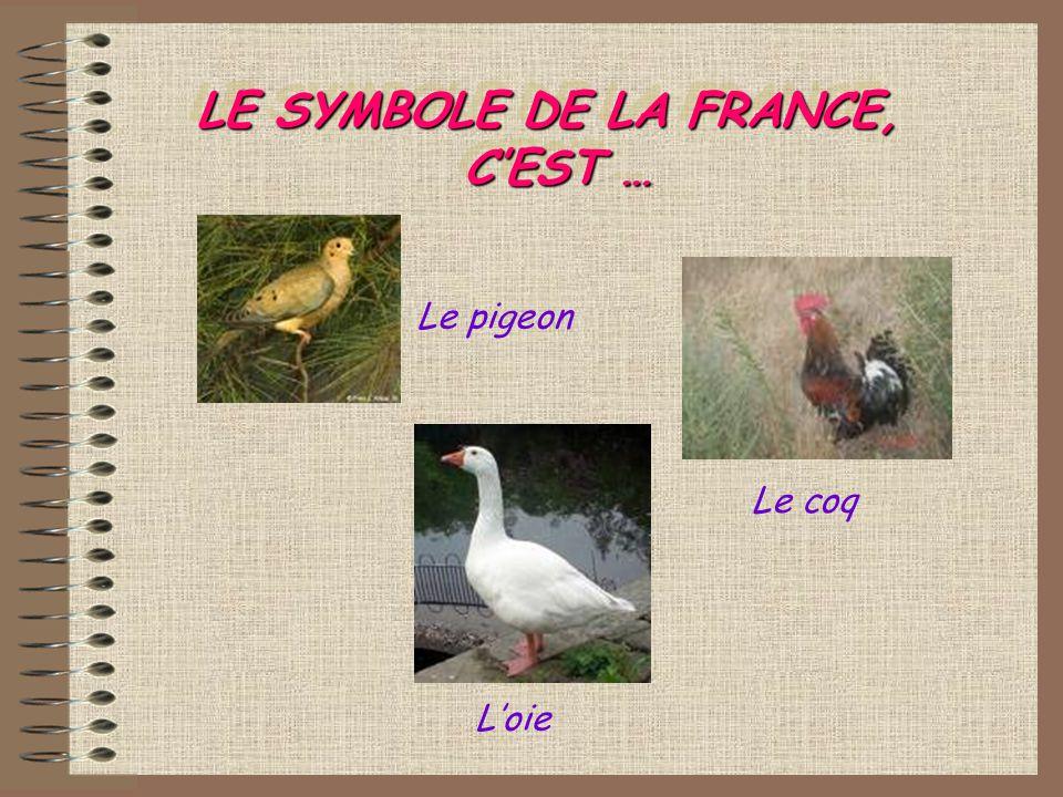 LE SYMBOLE DE LA FRANCE, CEST … Loie Le pigeon Le coq