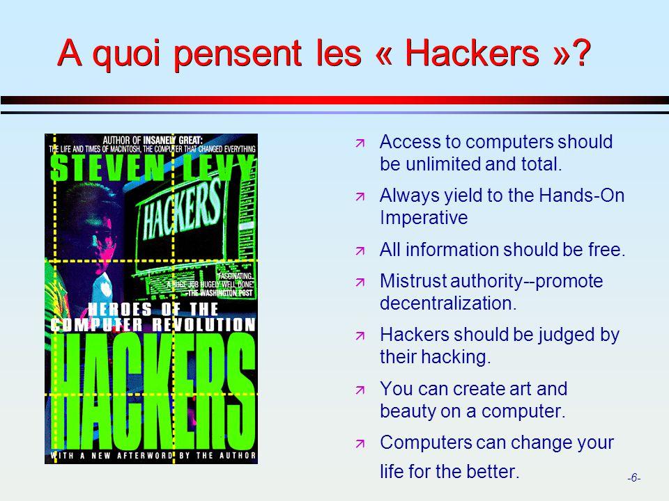 -27- La sécurité dans les réseaux ä D où viennent les problèmes.