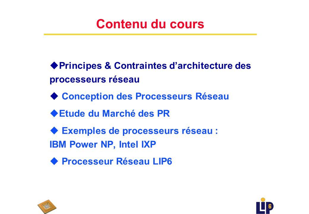 Processeurs Réseau PAPR (1) UE de M2 février / mars 2007 Daniela Genius LIP6