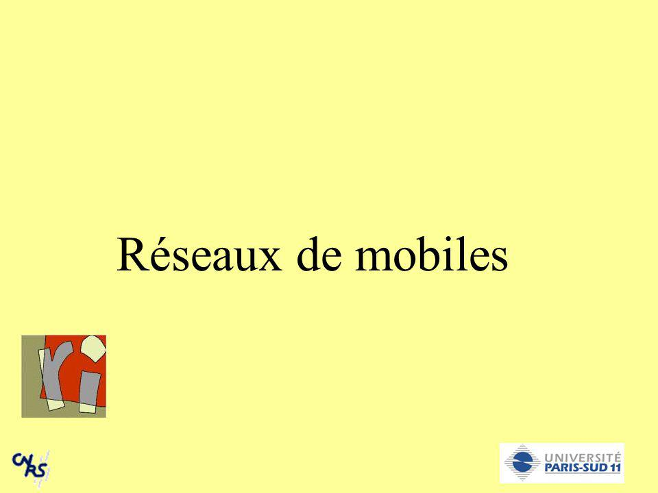 Introduction Sans fil et mobile SystèmeSans filMobile GSMxx IS95xx UMTSxx TCP/IP-- IP-mobile-x ATM-- DECT (sans cordon)x-