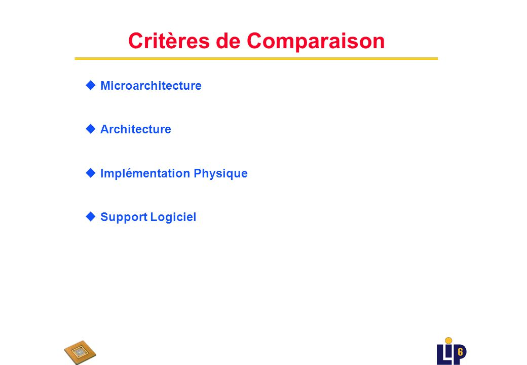 Contenu du cours uPrincipes & Contraintes darchitecture des processeurs réseau u Conception des Processeurs Réseau u Exemples de processeurs réseau :