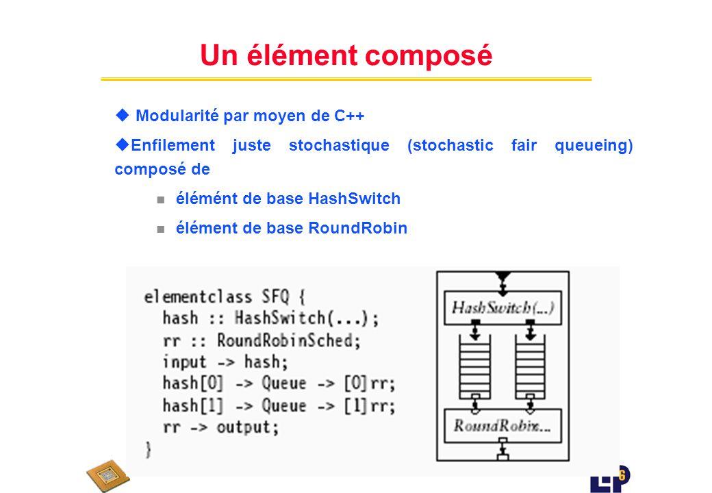 Conçevoir des éléments u Cest du C++ u Attention aux appels des fonctions virtuelles u Exemple : Code C++ pour lélément vide