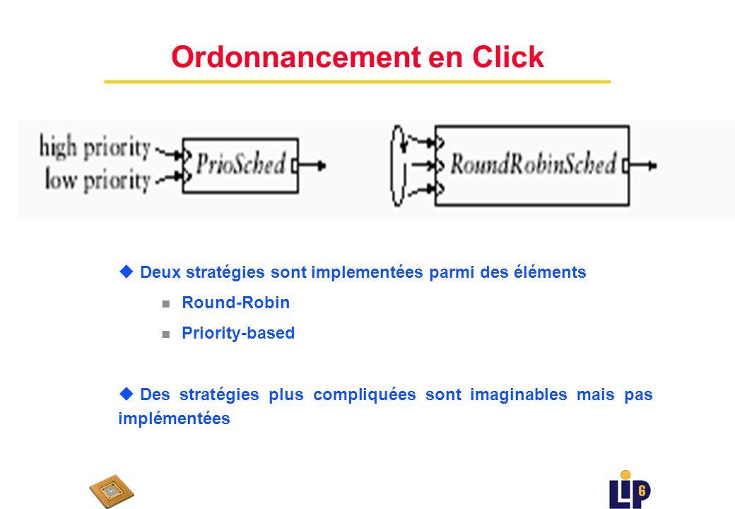 Un Simple Classifieur u Trois priorités u Jeter des paquets selon la stratégie RED u cherchez l erreur