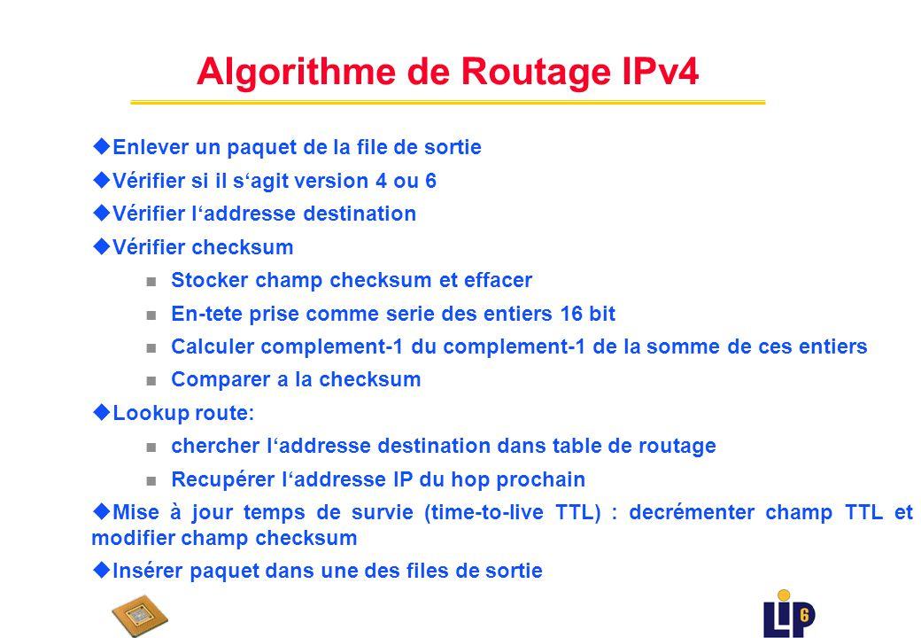 Un premier routeur : IPv 4