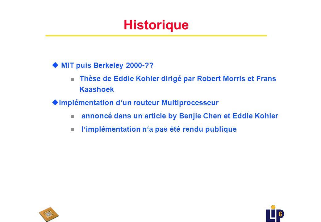 Historique u MIT puis Berkeley 2000-?.